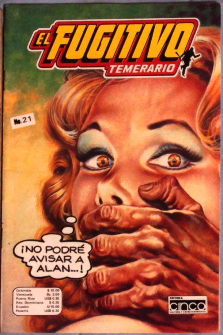Pulp fiction Mexican comic El Fugitivo Damsel in Distress ...