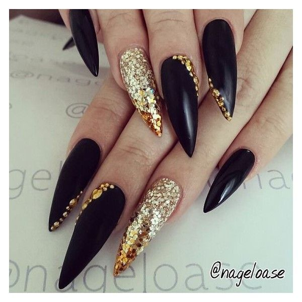 Stiletto Nails ❤ liked on Polyvore featuring beauty products, nail ...