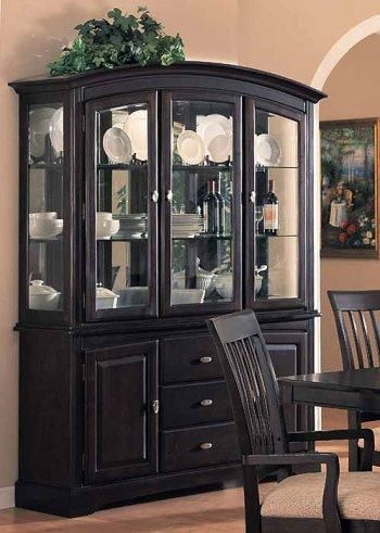 Like the arched top on this china closet. | China Displays ...