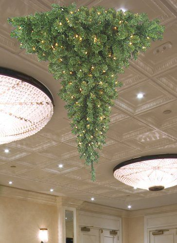 upside down christmas tree, chandelier christmas tree, artificial ...