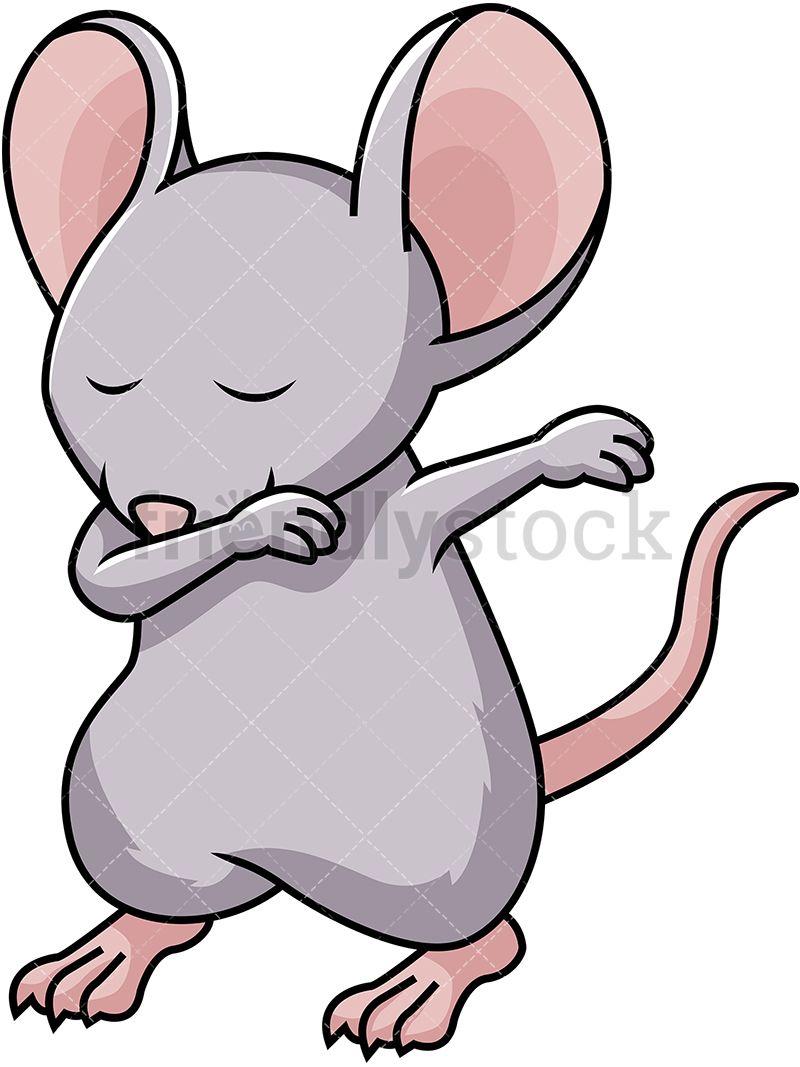 Dabbing Mouse Cartoon Vector Clipart Friendlystock Cartoons Vector Dabs Clip Art