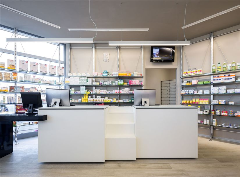 Modern Small Pharmacy Interior Design 005 Retail Shop Interior