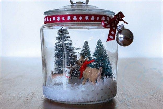 Vandaag een hele makkelijke DIY kesrt speciaal gericht op de feestdagen, het maken van een kersttafereel in een potje zoals op de foto.