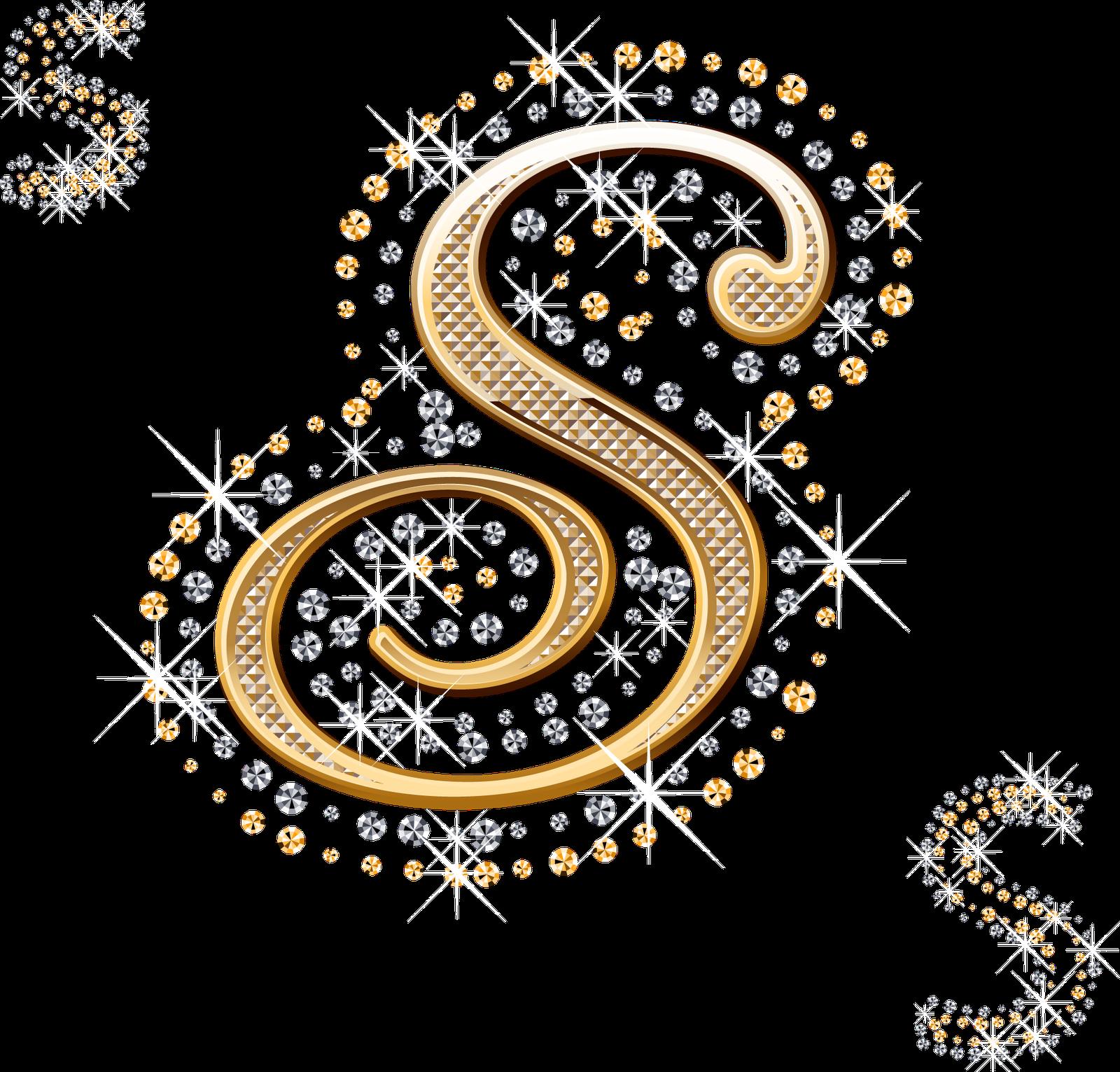 foto de Alfabeto decorado dourado com strass em PNG Strass