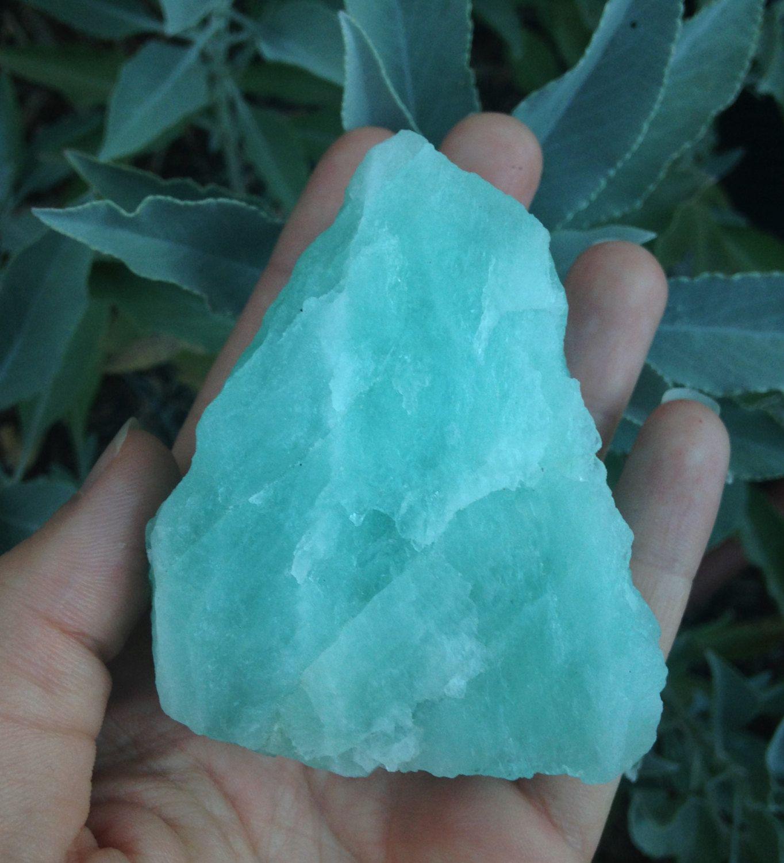 Raw Brazilian Aquamarine  Metaphysical Healing Crystals + Stones