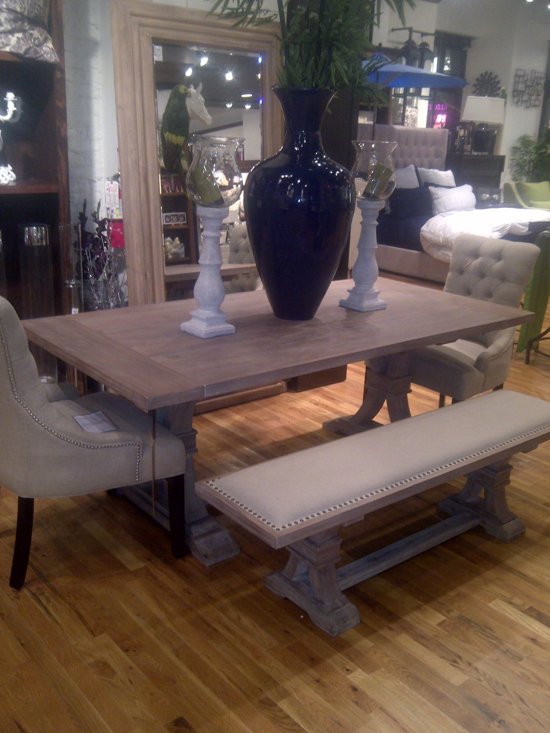 Z Gallerie Archer Dining Table And Bench