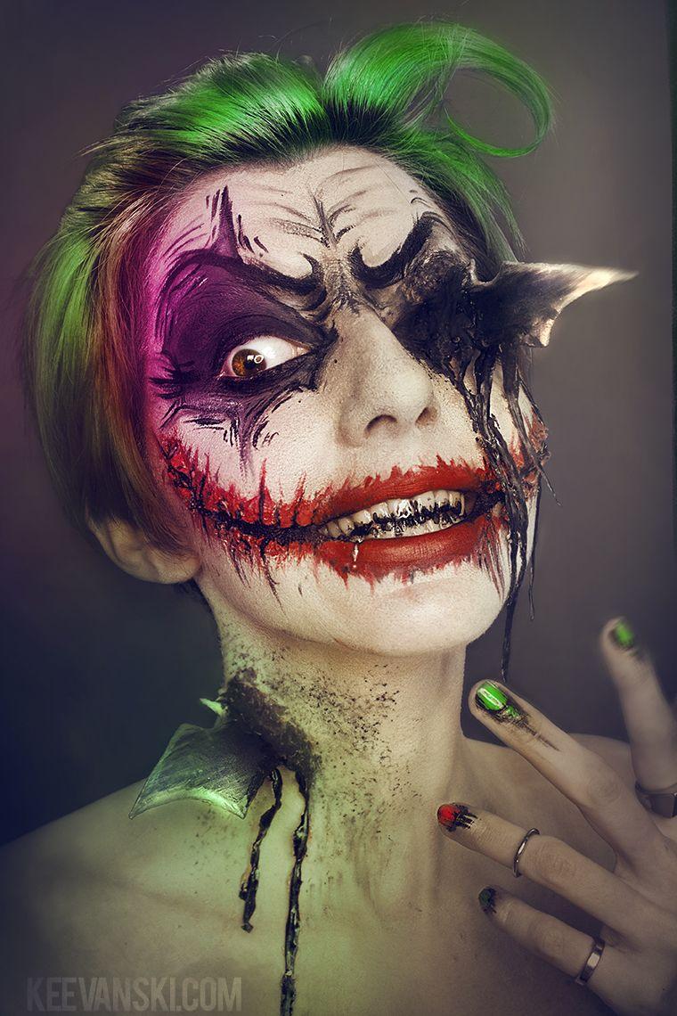 Joker vs batman makeup artwork by keevanski mystique pinterest