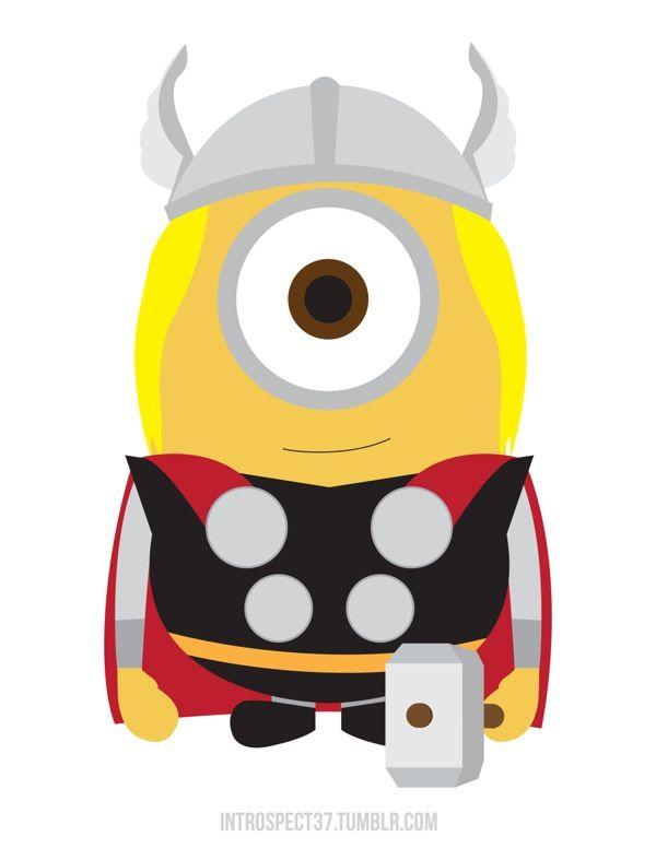 Minion Thor | Ba-na-na ?!? | Pinterest | Minions mi villano favorito ...