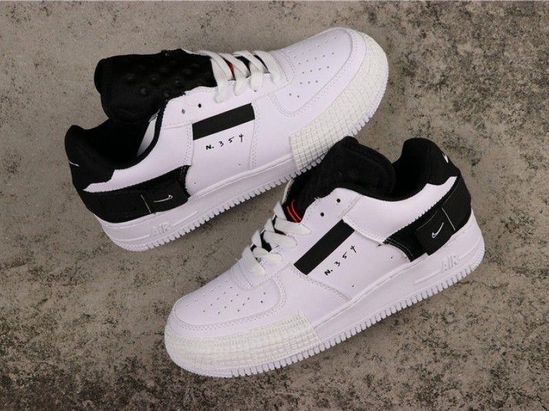 Nike Air Force 1 Low N354 Type White Black AT7859-101 | Nike ...