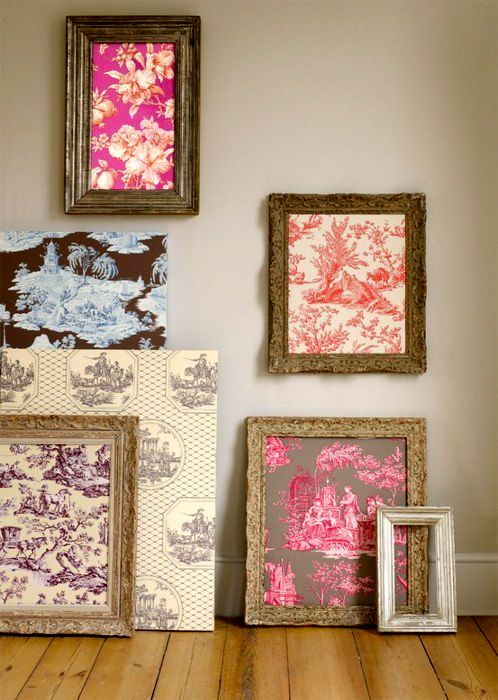 Room Ideas · Maybe Get Fat Quarters/fabric Scraps In Toiles And Various  Frames To Play With.