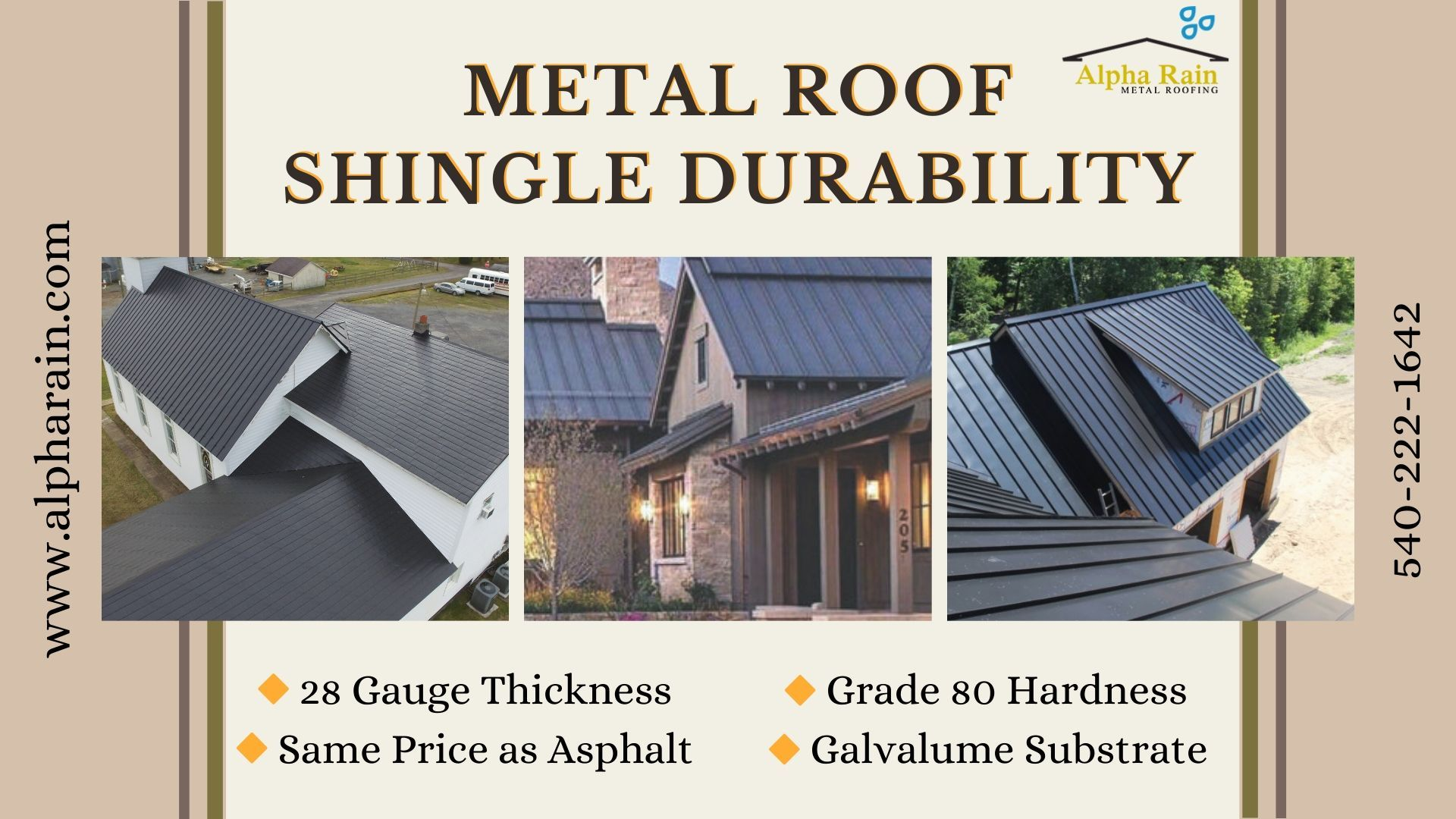 All We Want In Roofing Is Dent Protection So Alpha Rain Has Created Amazing Metal Shingles That Are Designed With Proper 28 Gauge Thickne