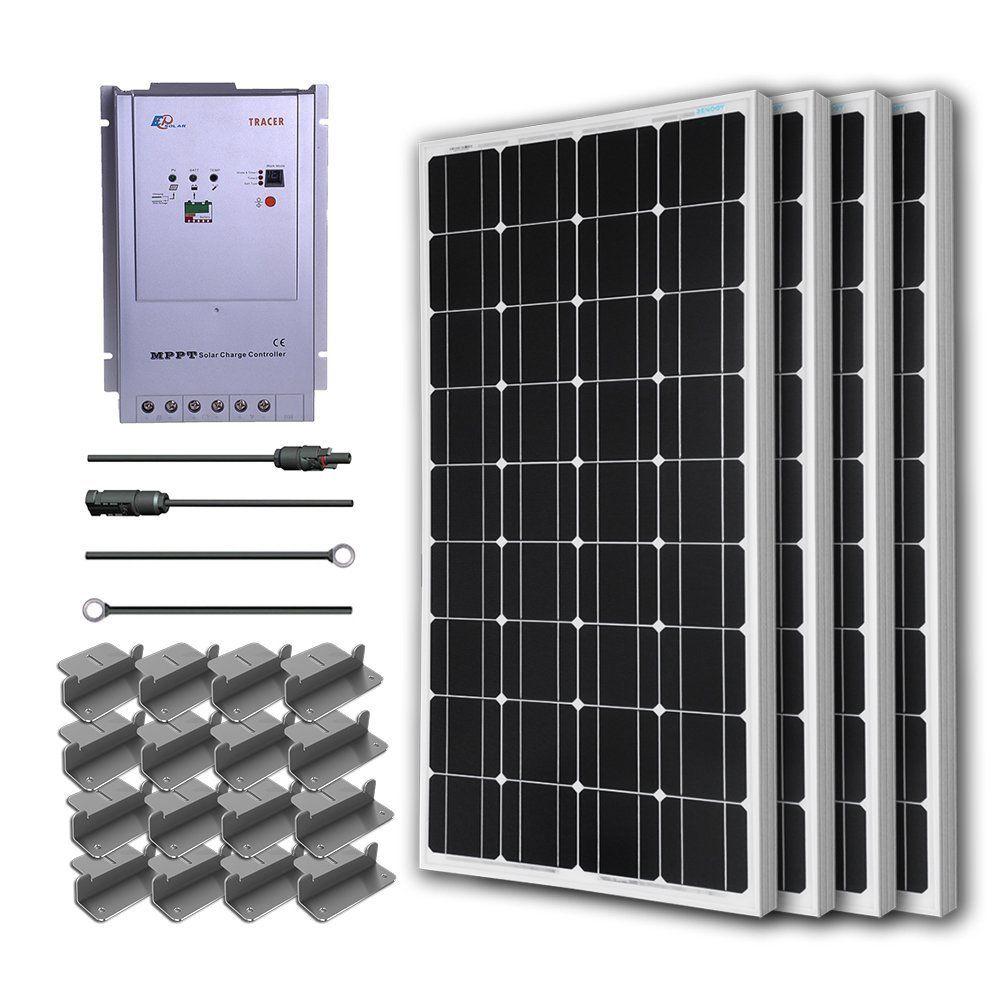 Renogy 400 Watt Portable Solar Panel Kit For Rv Solar Panel Kits Portable Solar Panels Solar Kit