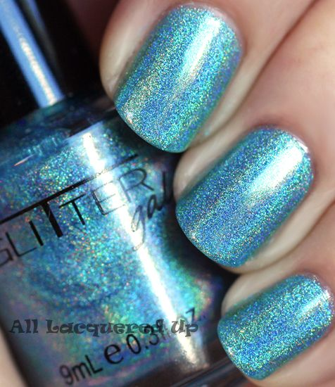 Alu S 365 Of Untrieds Glitter Gal Blue Holographic Nail Polish