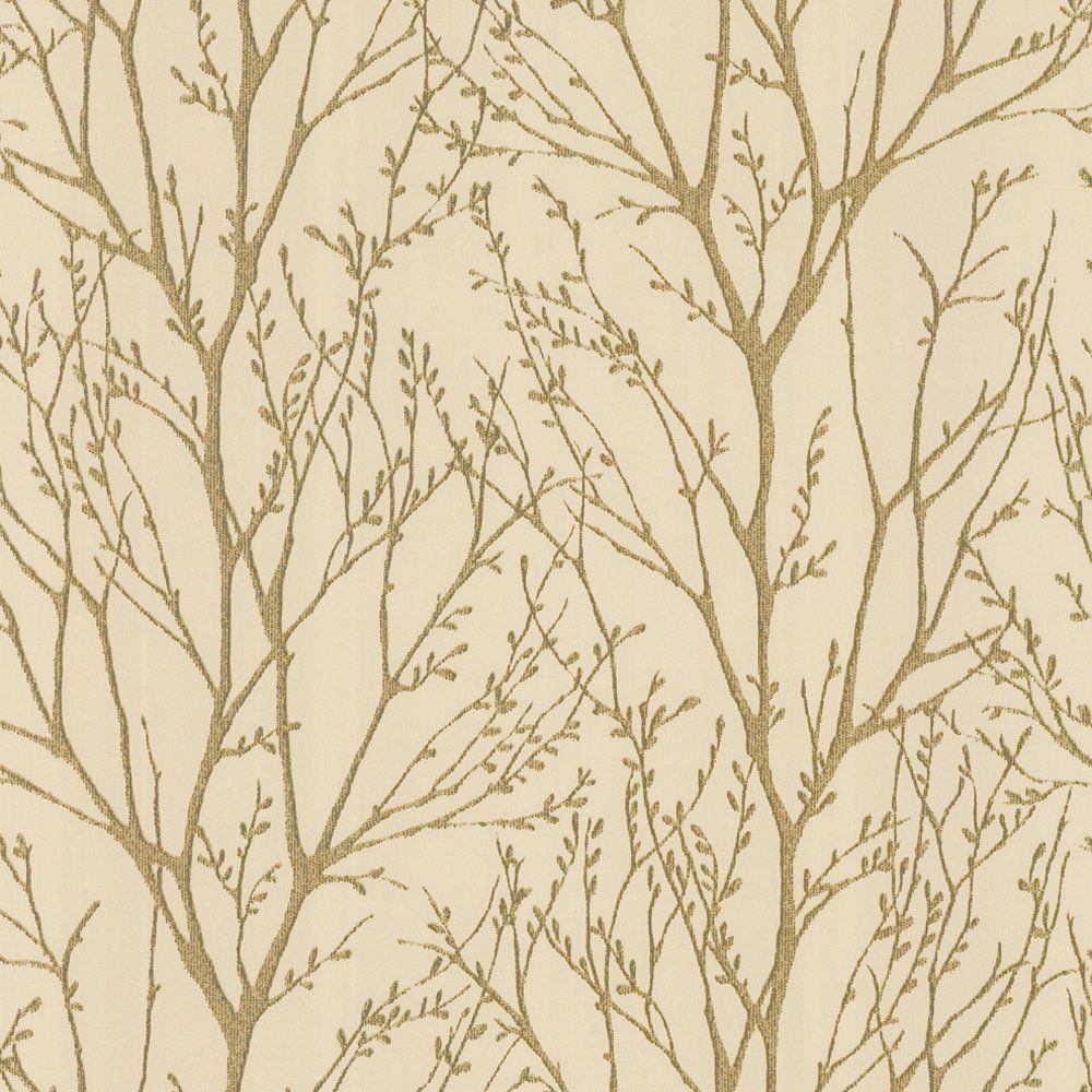 I Love Wallpaper Shimmer Wallpaper Metallic Gold Cream Room