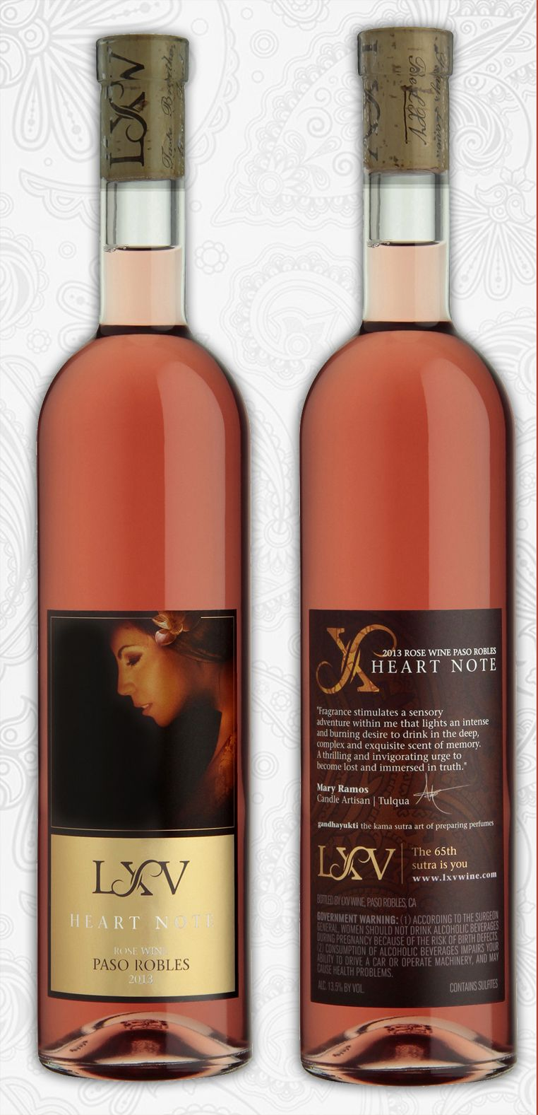 Lxv 2013 Heart Note Rose At Once Juicy And Creamy In The Mouth The Flavors Suggest Kumquats And Young Strawberrie Unique Wines Rose Wine Bottle Wine Bottle
