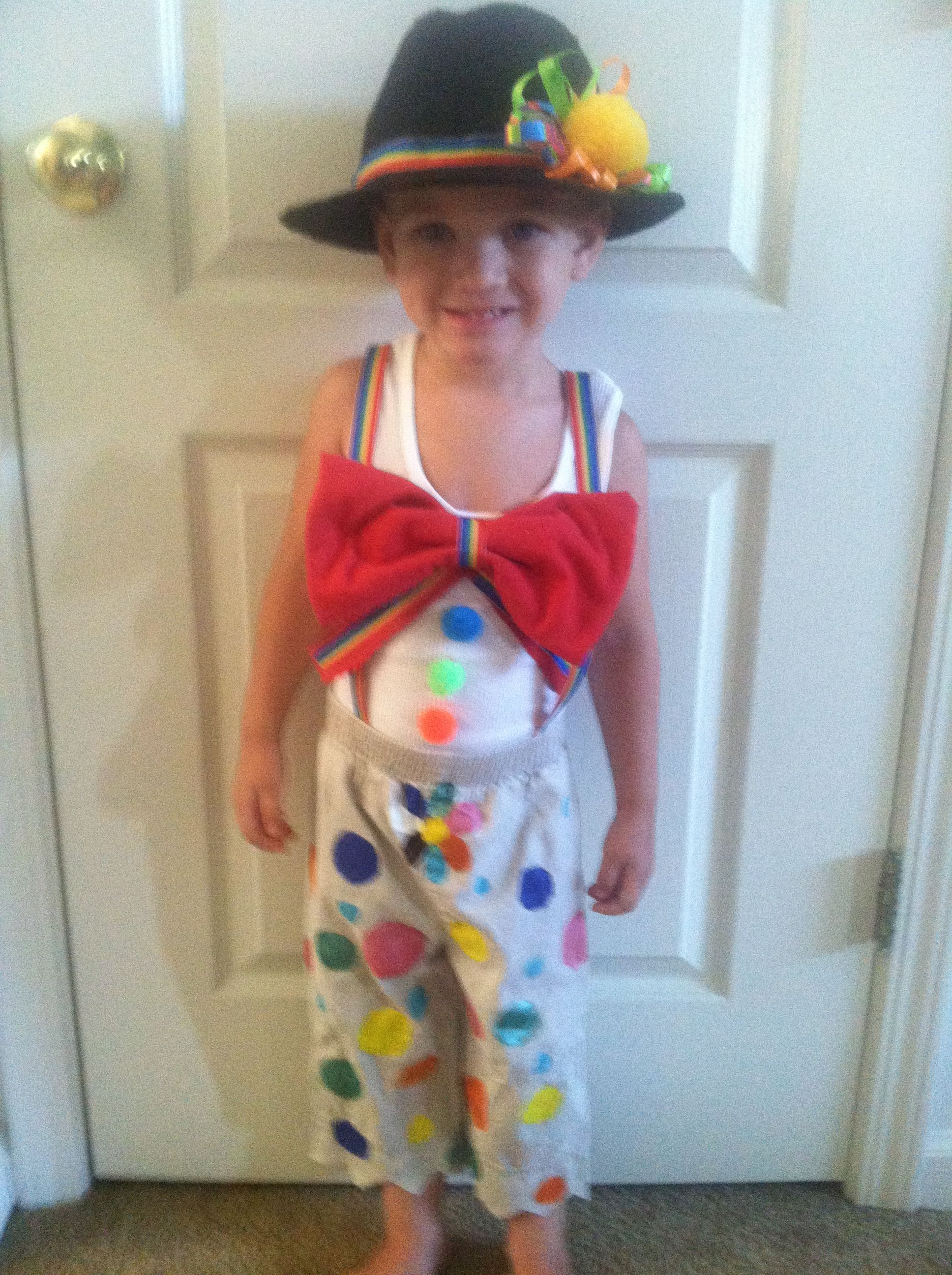 DIY Kids Clown Costume, DIY Halloween Costume, Going To Make Evan And Emily  Clowns This Year, I Think