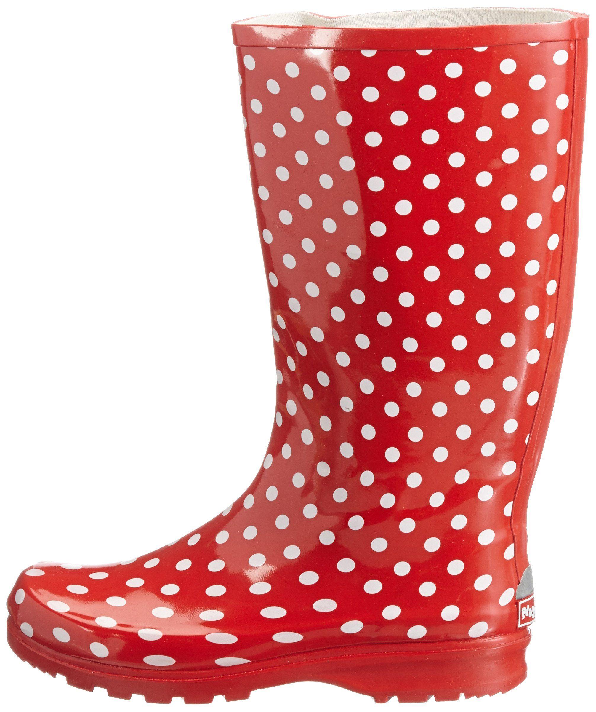 Playshoes Damen-Gummistiefel Punkte rot Gr. 42 a3bb9a