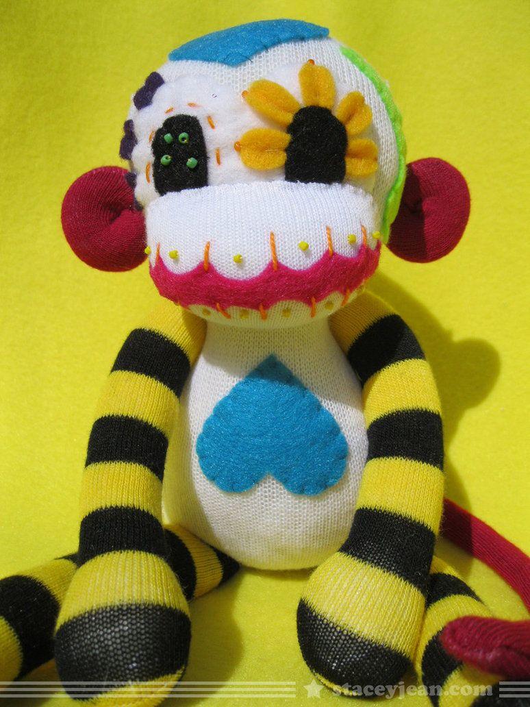 Sugar Skull Sock Monkey by REBELalaMODE on DeviantArt