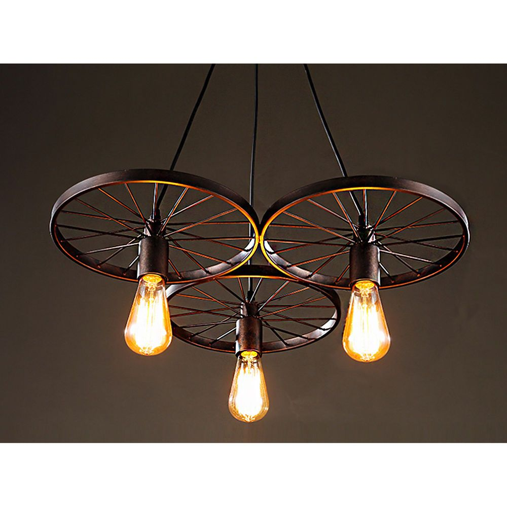 Wagon Wheel Chandeliers For Dining Rooms Rustic Barn Rec Room Lighting Den Farm Serapiko