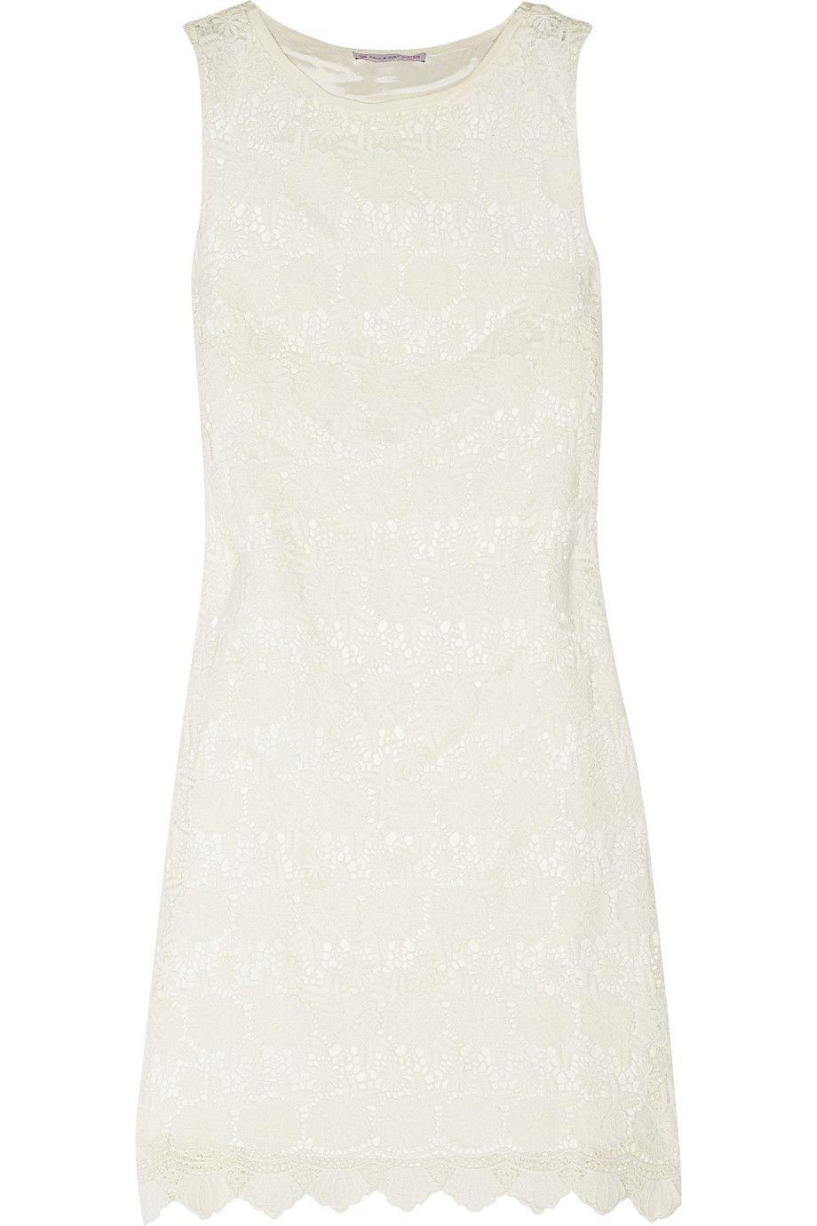 Paul u joe sister cottonlace mini dress wedding reception dress