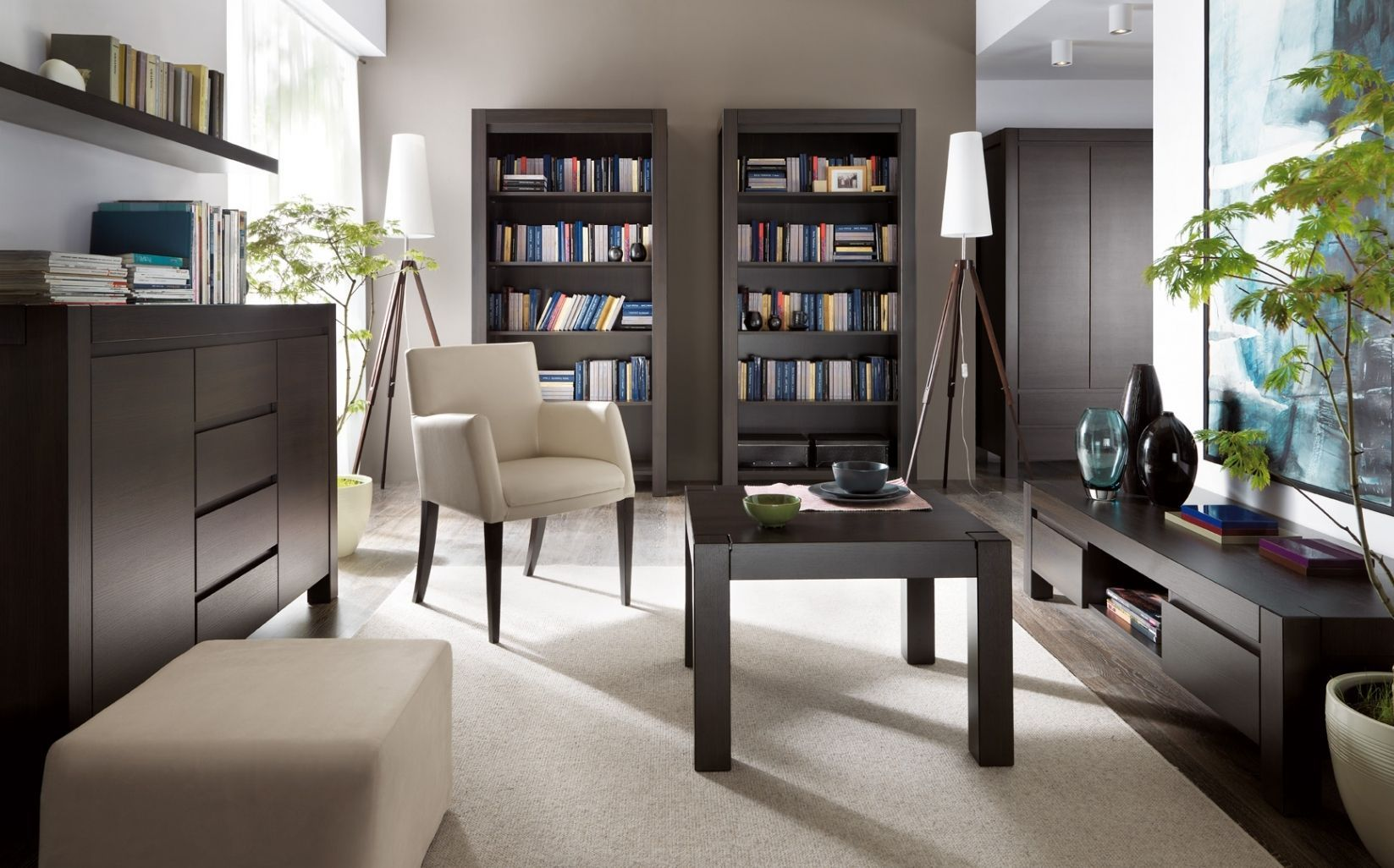 GroBartig Wohnzimmer Einrichten Dunkle Möbel