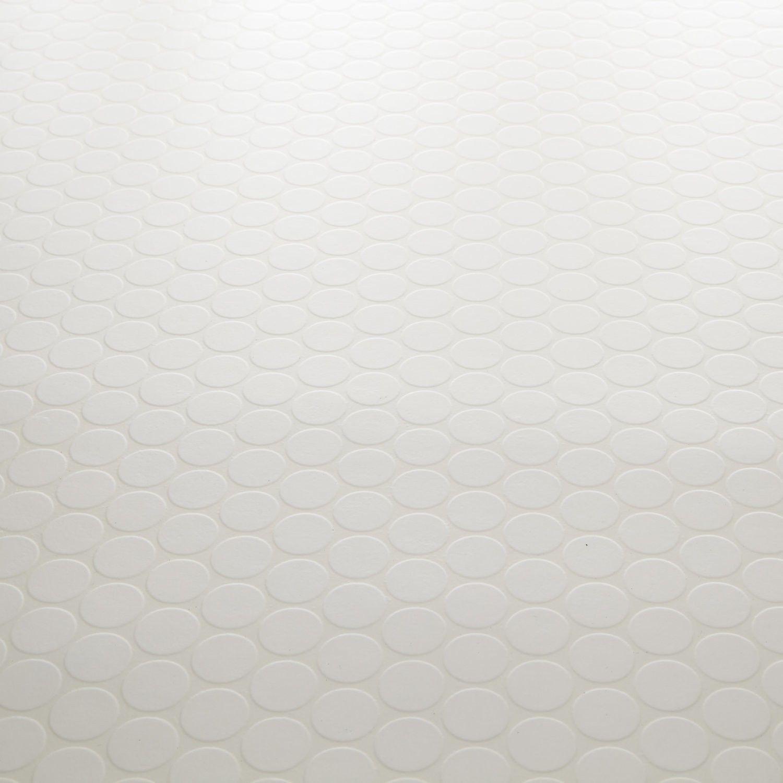 Mardi gras 01 dots mosaic tile effect vinyl carpetright for Tile effect vinyl flooring for bathrooms