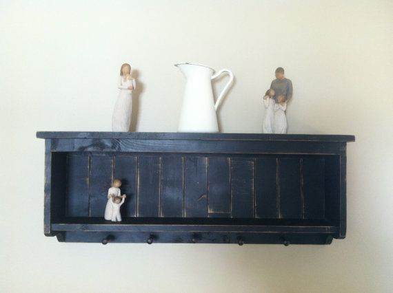 distressed wood shelf primitive home decor by beecharmerprim, $79.00