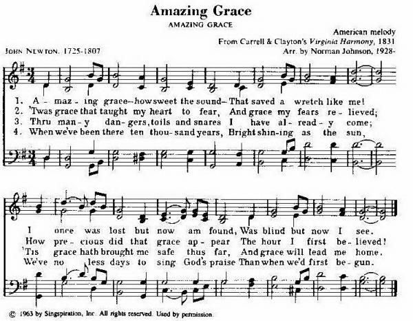 Amazing grace hymn taken from 101 hymn stories for Amazing house music