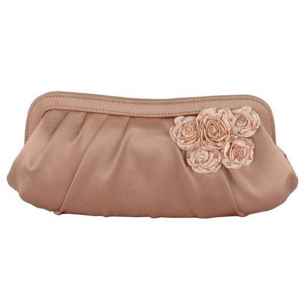 Women S Menbur Fl Lique Satin Clutch 90 Liked On Polyvore Featuring Bags Handbags Clutches Flower Print Vintage