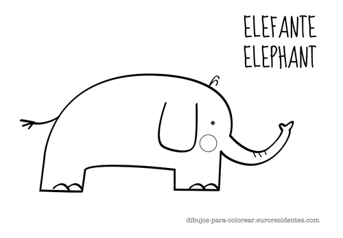 Colorear elefante | Drawings | Pinterest | Printables, Classroom and ...