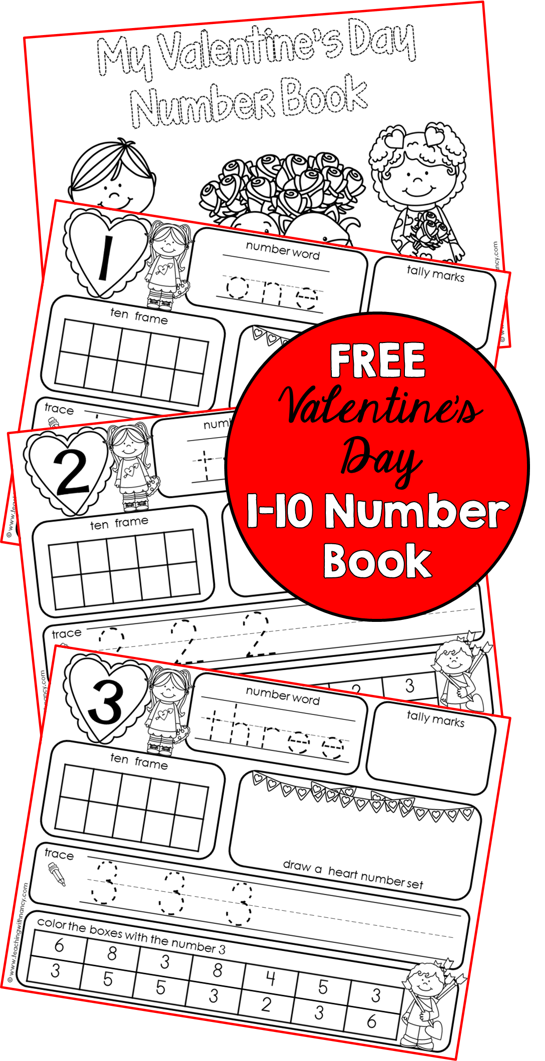 Valentine S Day 1 10 Number Book