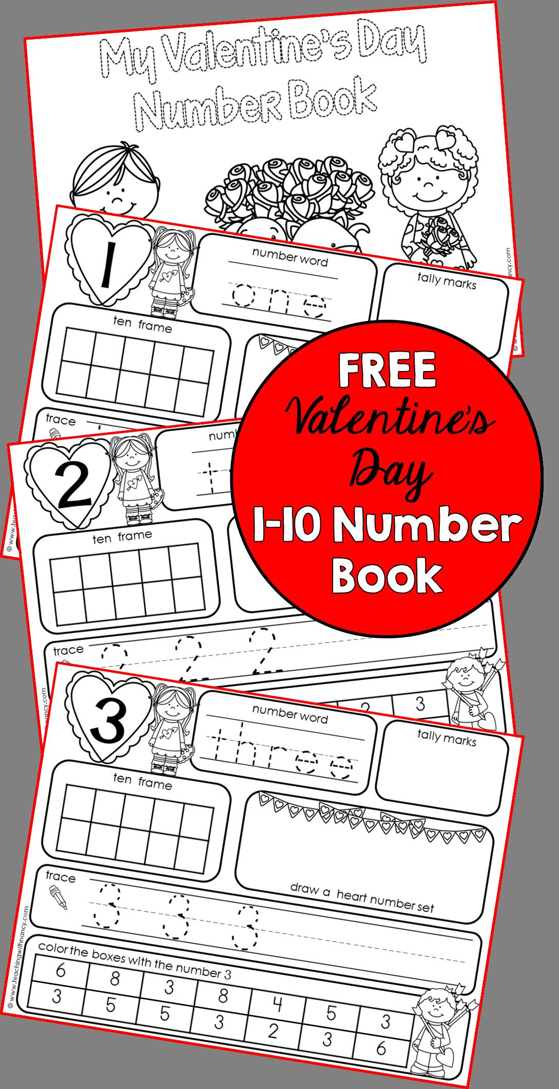 Valentine S Day 1 10 Number Book