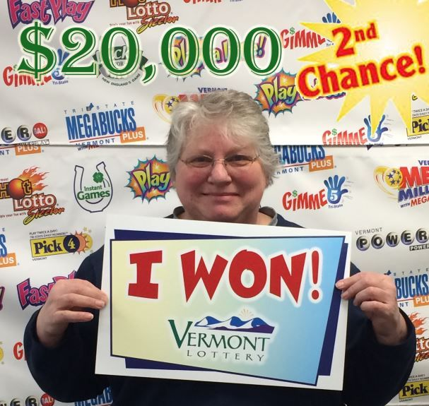 $20k 2nd Chance winner! www vtlottery com | Winners! | 2nd chance
