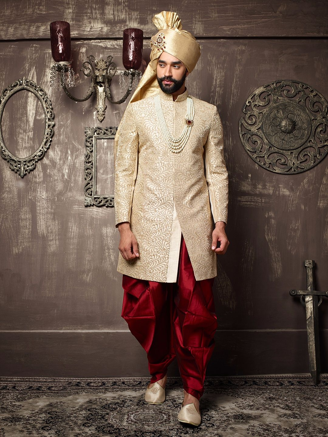 Pin on Men's Wedding Sherwani