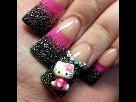 My Hello Kitty Acrylic Duck Flare Nails More