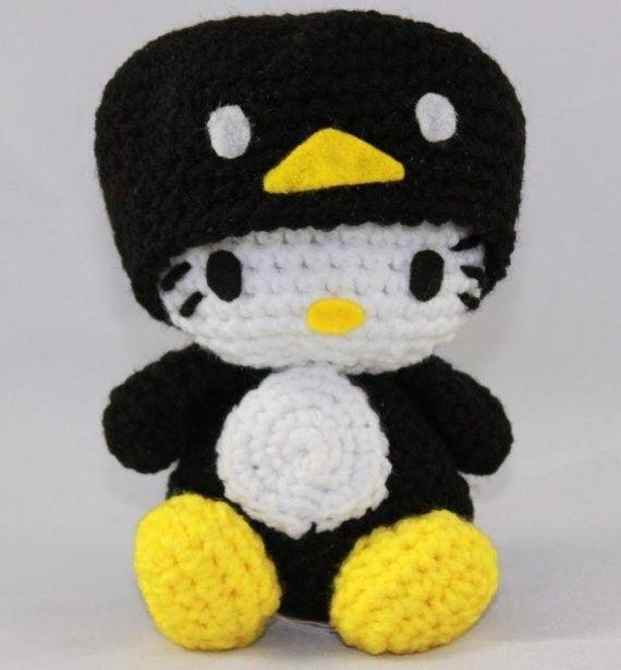 Hello Kitty Doll Hello Kitty Black Penguin Crocheted by hookmiup ...