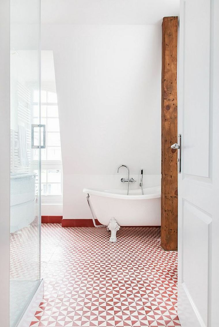 Tiroir Salle De Bain Sur Mesure ~ R Sultat De Recherche D Images Pour Carrelage Blanc Rouge