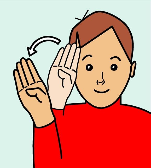how to say hello teacher in sign language