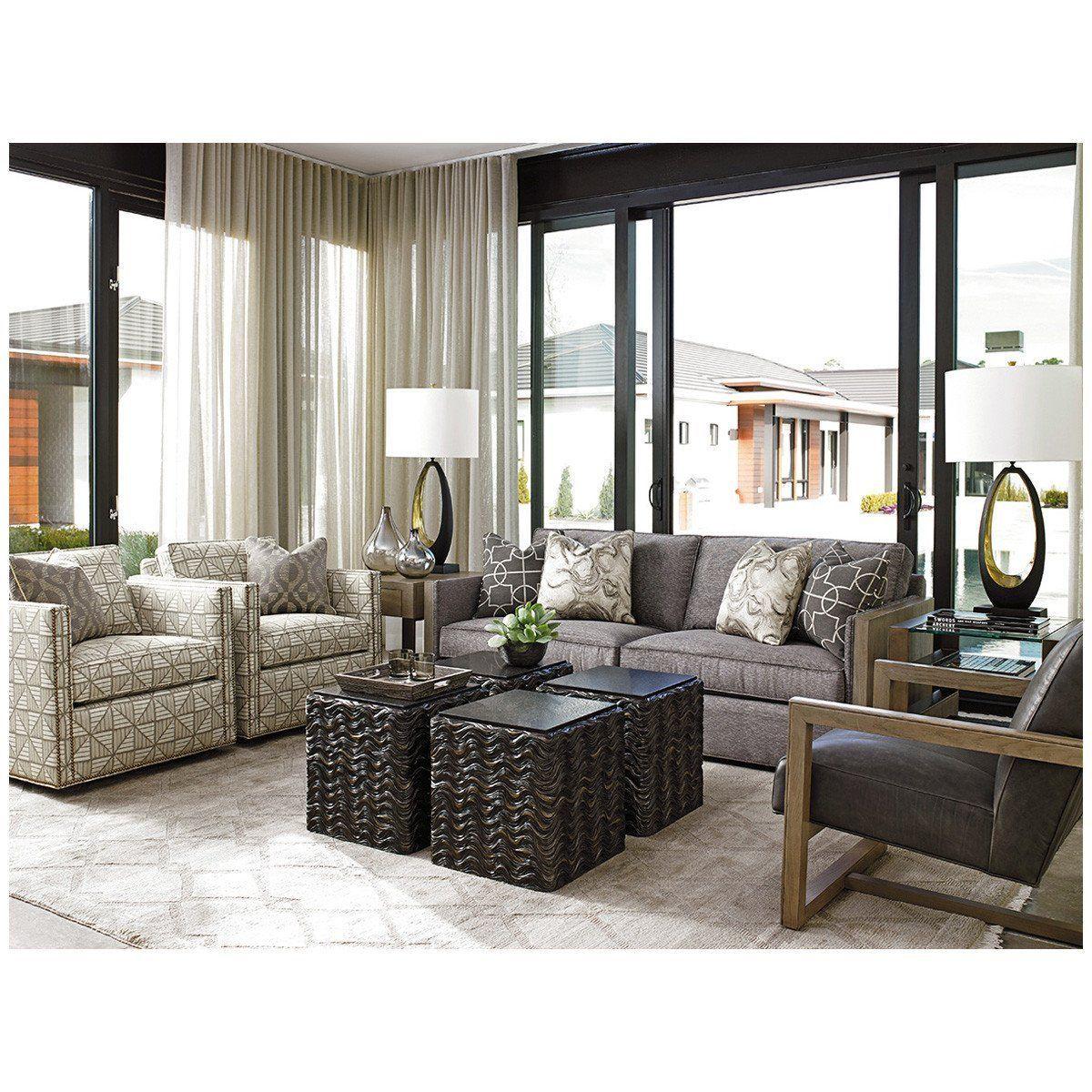 Lexington Shadow Play Hinsdale Swivel Club Chair Living