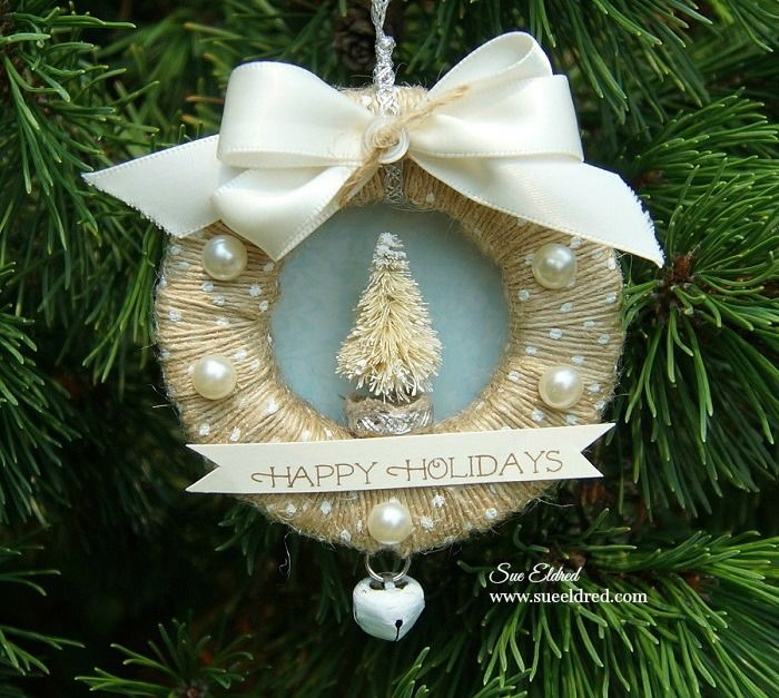 Photo of Mini Ribbon Wreath Ornaments