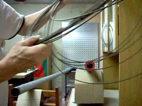 226 - ELETRICIDADE - Como passar fio em eletroduto de grande diâmetro.MOV
