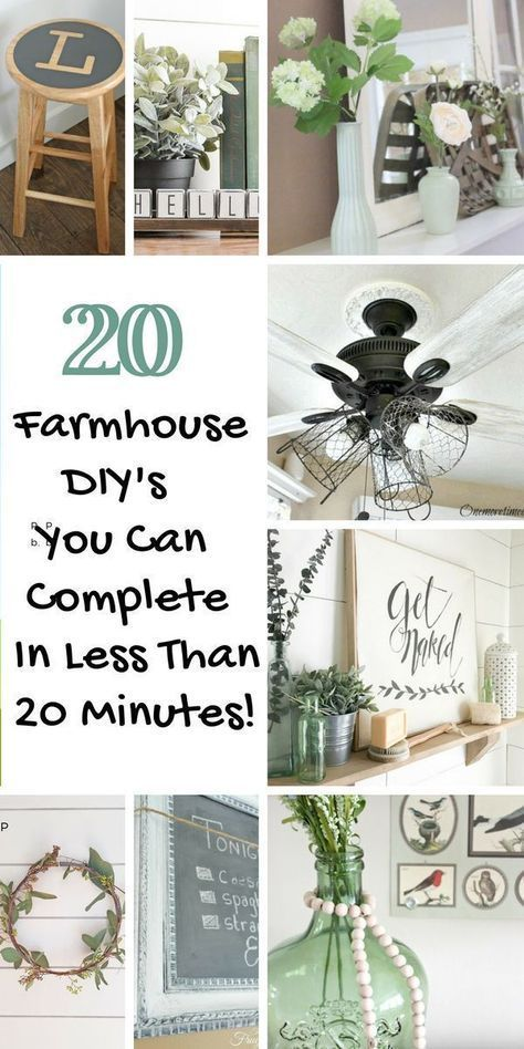 Photo of 20 Farmhouse DIY Craft Ideas You Can Make In 20 Minutes Or Less – Restore Create Renovate
