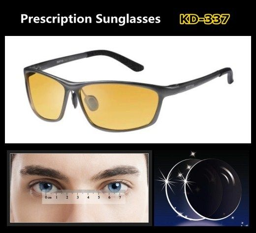 18de90618cc Night Driving Sunglasss for Men Aluminium Magnesium Airplane Material Glasses  Frame Prescription Lens EXIA OPTICAL KD