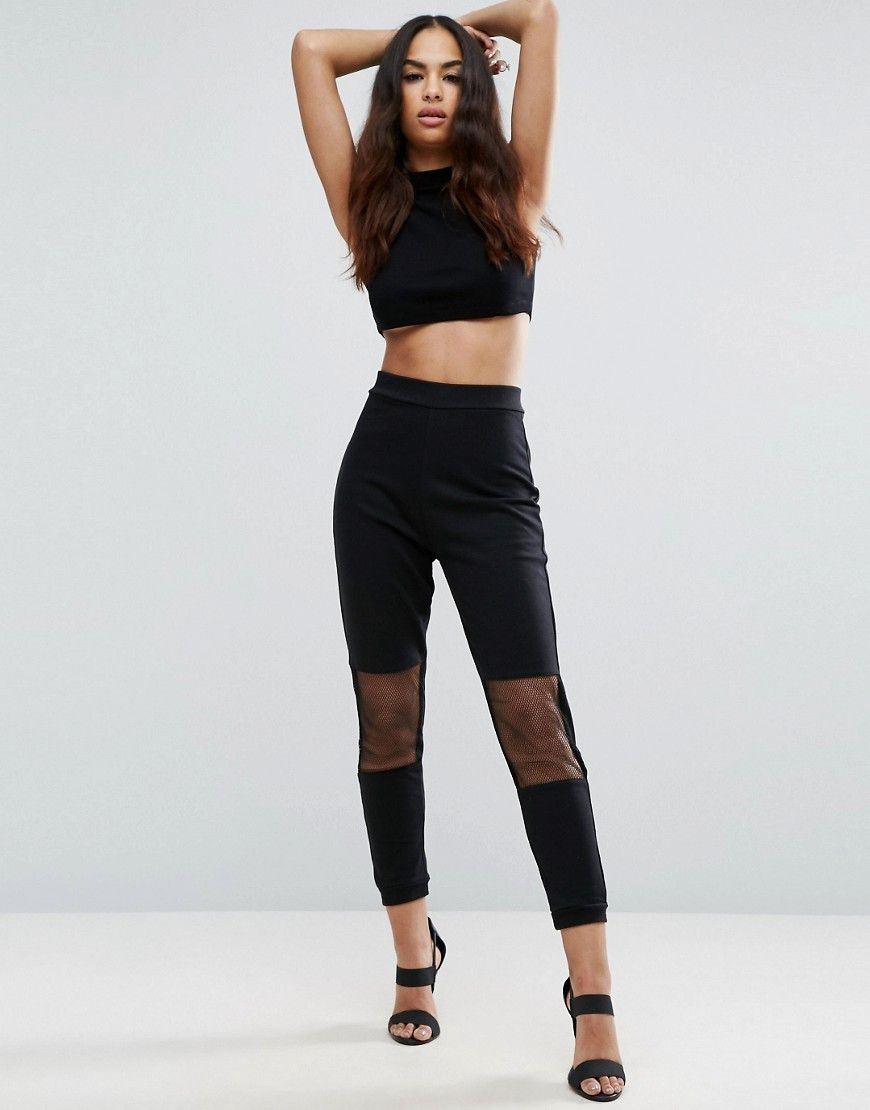 ASOS Joggers with Mesh Panels - Black. Joggers by ASOS Collection