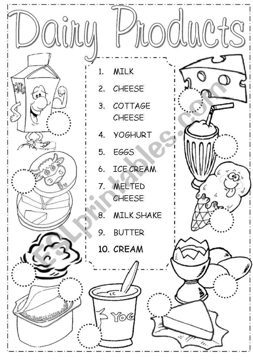 dairy food group activities