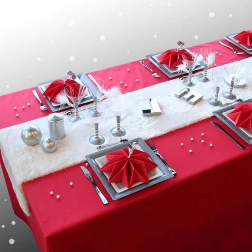 33 Red And Silver Table Setting Ideas for Christmas | red ...
