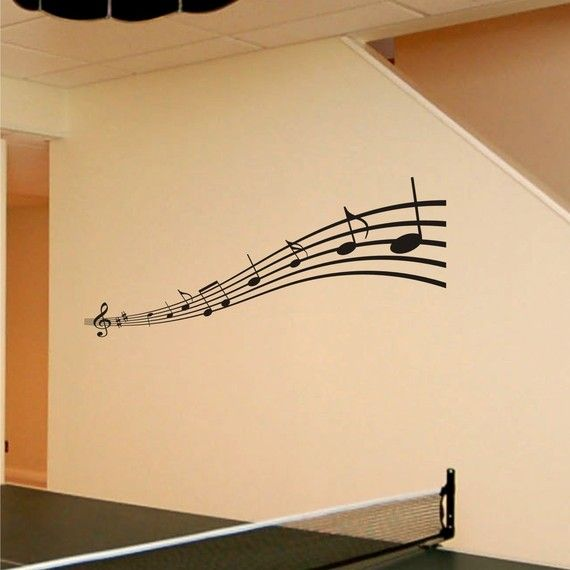 I really want this in my room. Vinyl Wall Art Decals Music Notes ...