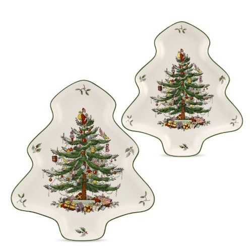 Spode Christmas Tree 2piece Tree Shaped Nesting Dish Set See This Great Product This Link Participat Spode Christmas Realistic Christmas Trees Tree Shapes