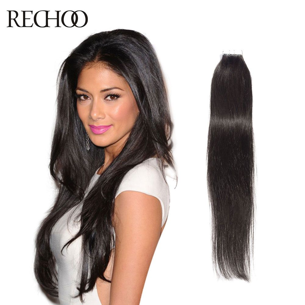 Rechoo Hot Sale Tape Hair Extensions 20pcs Brazilian Virgin Hair
