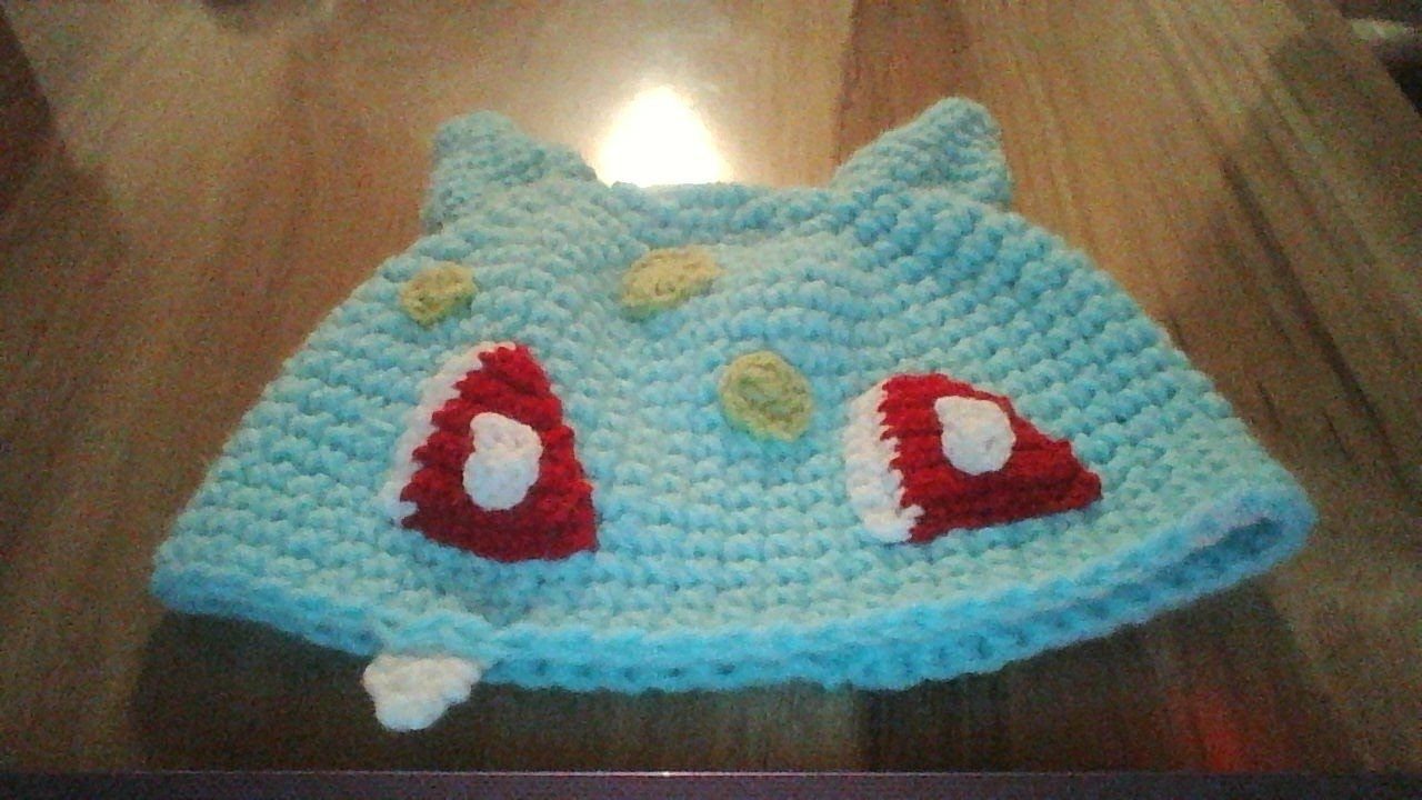 Gorro de Pokemon a crochet |Bulbasaur| | gorros | Pinterest ...